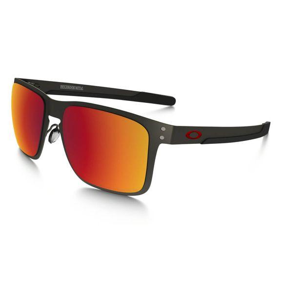 Óculos Oakley Holbrook Metal Matte gun Torch polarizado - Cinza e316298743