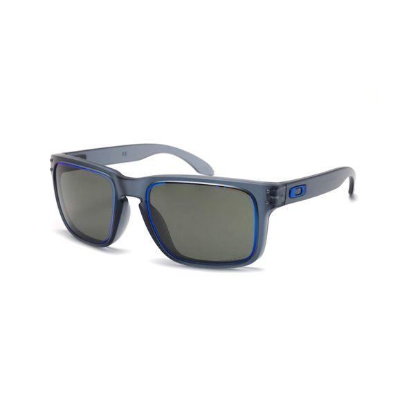 ee88e07e08736 Óculos Oakley Holbrook Matte crystal black W prizm Grey - OO9102-G9 -  Preto azul