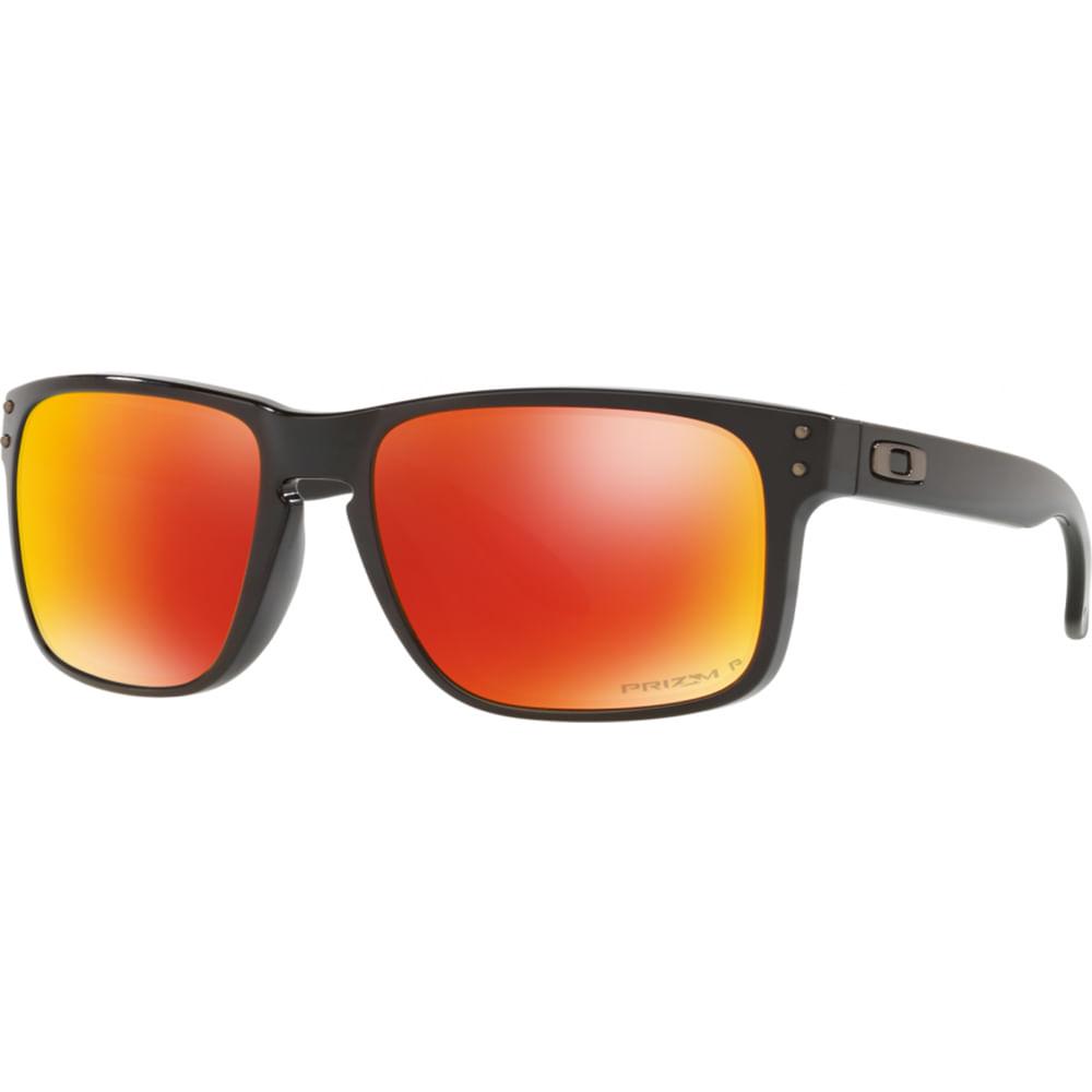 5858cb4df3084 Óculos Oakley Holbrook Prizm Ruby W polished Black Polarizado ...