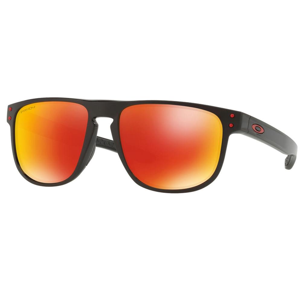 242764fe23957 Óculos Oakley Holbrook R Polished Black W prizm Ruby Polarizado ...