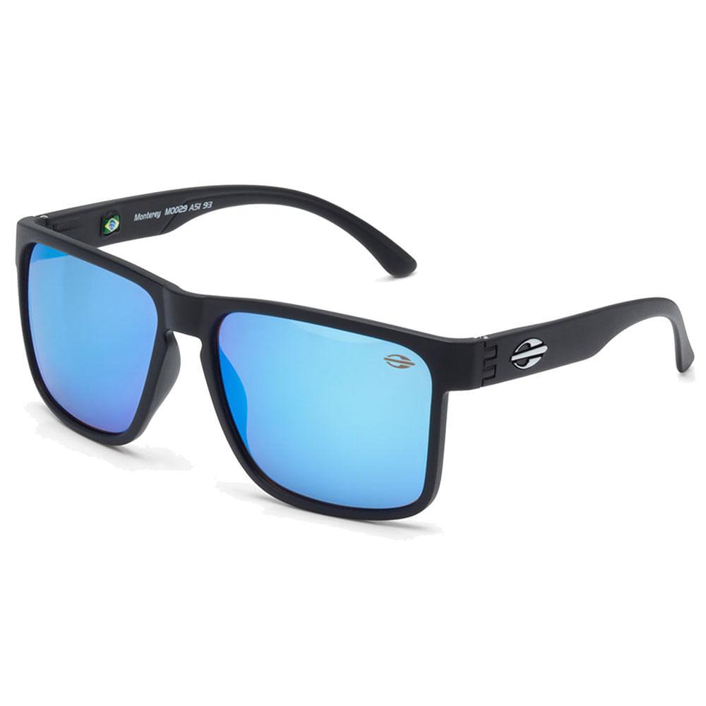 Óculos Mormaii Monterey Preto Fosco Lente Azul Ice - M0029a1497 ... 2c84ff8b28