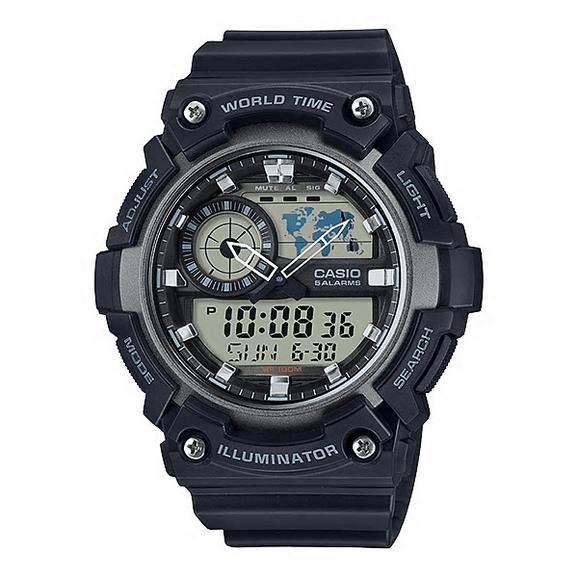 9e9af762790 Relógio Casio AEQ-200W-1AVDF - Preto cinza