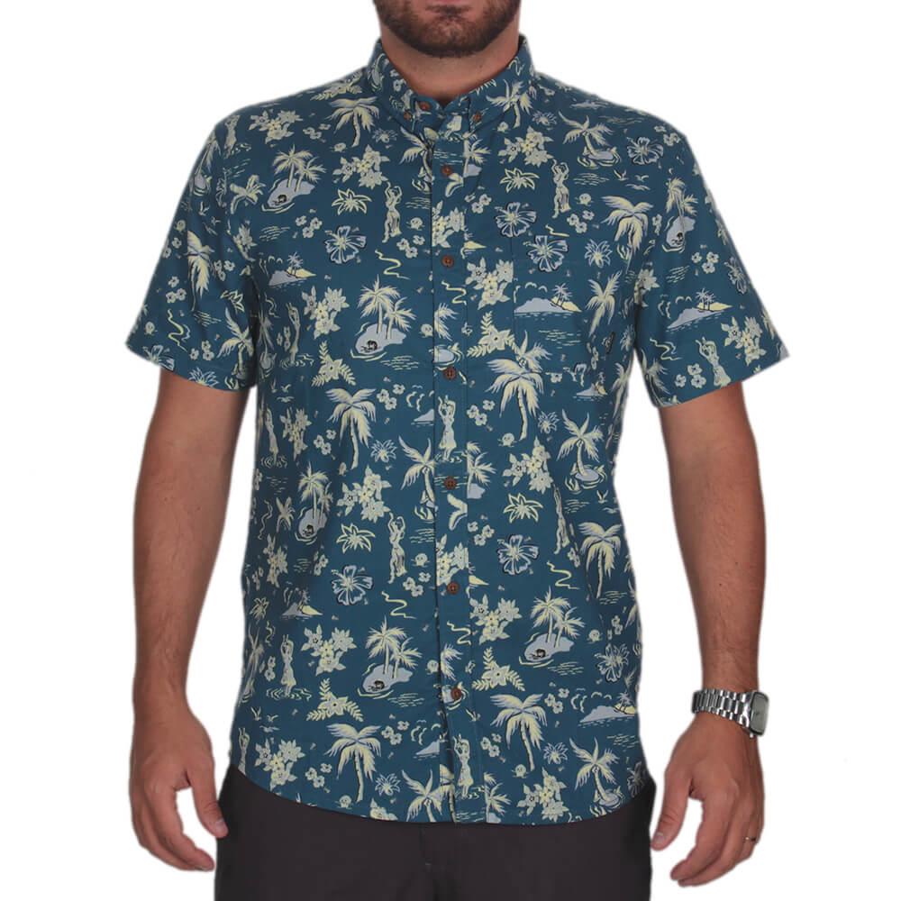 Camisa Quiksilver Black Hula - centralsurf 197c1e75d0