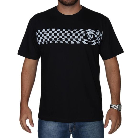 898e76b735210 Camiseta Volcom Estampada Check Two - Preta
