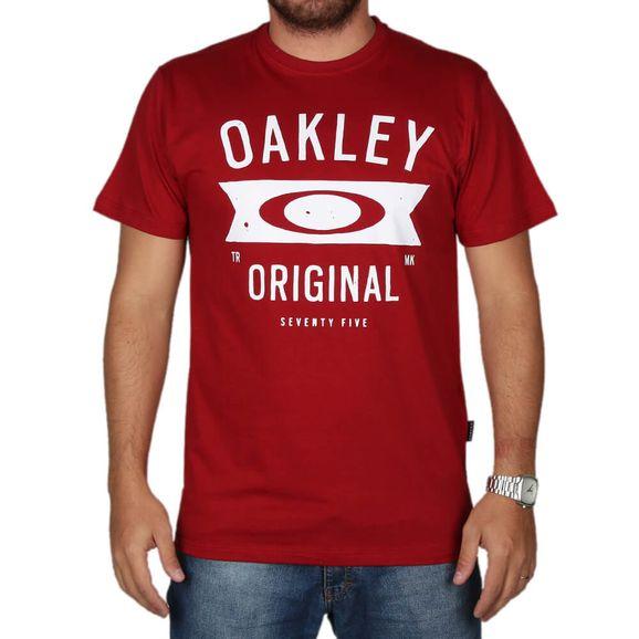 56dedb813c70f Camiseta Oakley Neo Varsity Tee - Vermelho