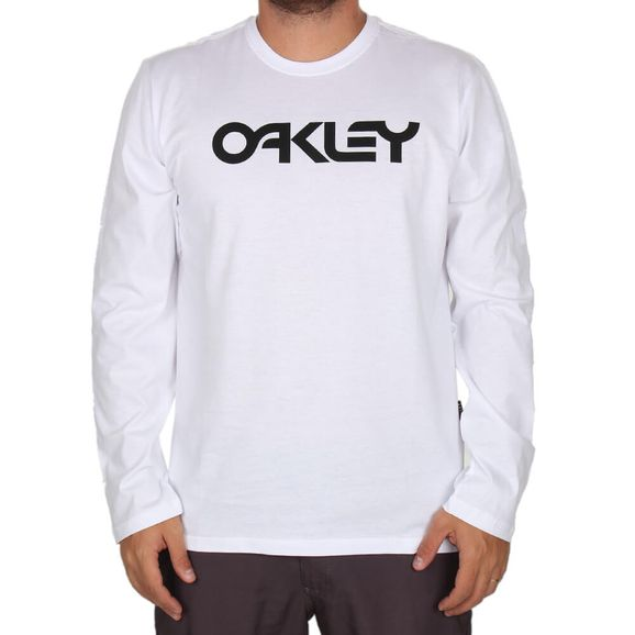 4a2bfe8e2 Camiseta Manga Longa Oakley Mark II Ls Tee - Branca