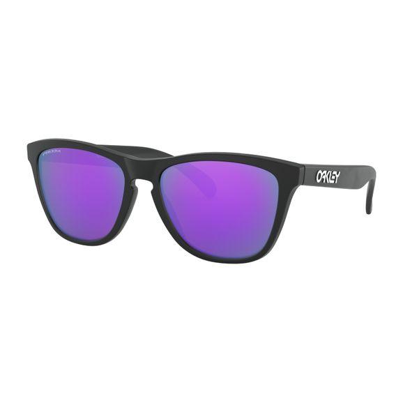 Oculos-Oakley-Frogskins-Matte-Black-W-Prizm-Violet